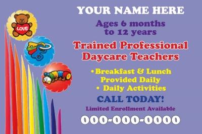 printed door hanger advertisements childcare 1 click to view larger