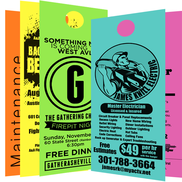 Door Hangers door hangers black printing 1000 for $59 - the official door